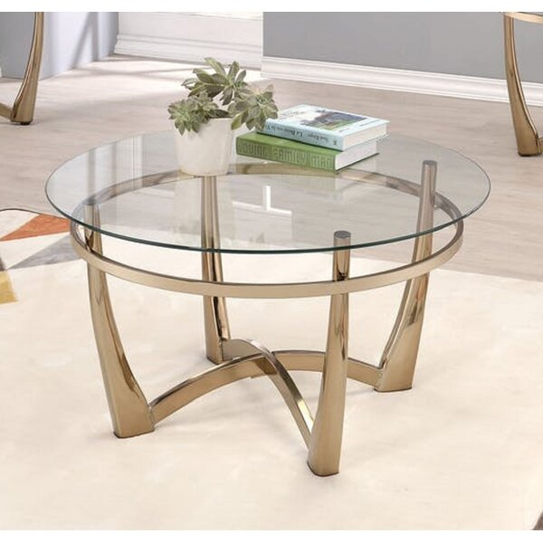Jauss Contemporary Round Living Room Coffee Table By Rosdorf Park