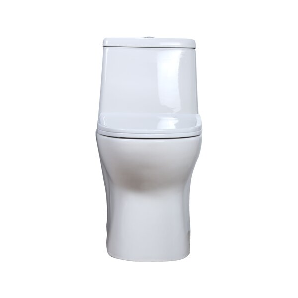 Dual Flush Elongated One-Piece Toilet by Hometure