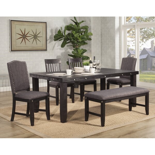 Keturah 6 Piece Solid Wood Dining Set by Gracie Oaks Gracie Oaks