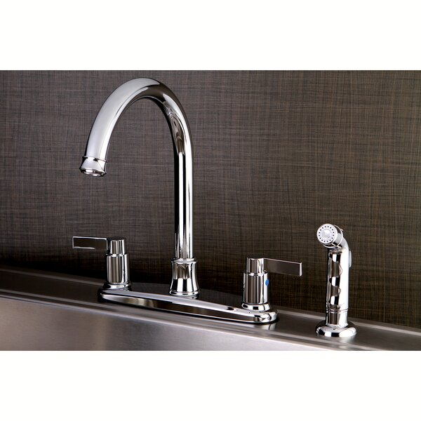 Nuvofusion Double Handle Kitchen Faucet with Side Spray