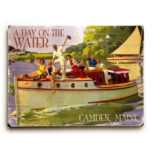 A Day on the Water Vintage Advertisement by Artehouse LLC