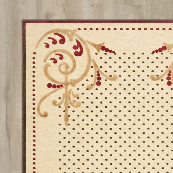 Scrollwork Hand-Loomed Creme Area Rug by Martha Stewart Rugs