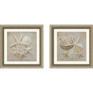 'Treasury Shells' 2 Piece Framed Photographic Print Set by Highland Dunes