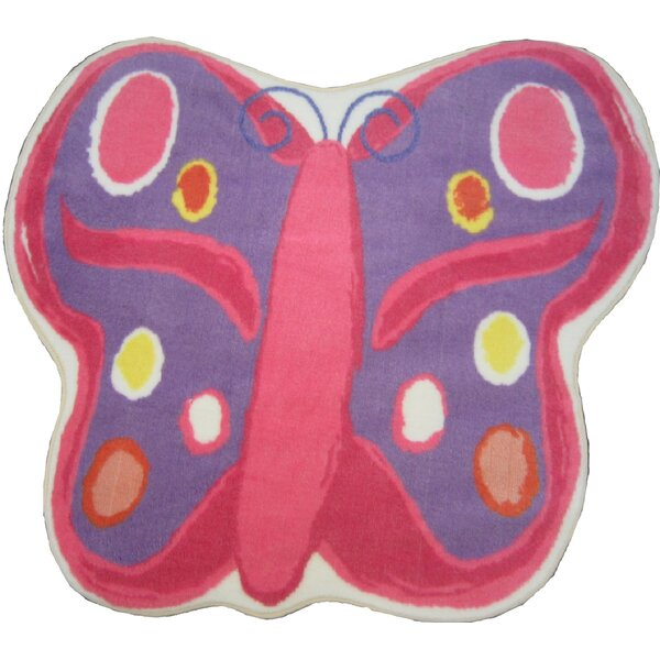 Fun Shape Medium Pile Butterfly Area Rug by Fun Rugs