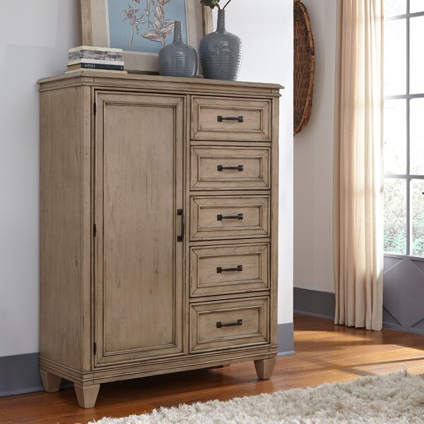 Hazzard Armoire 5 Drawer Gentleman's Chest by Charlton Home