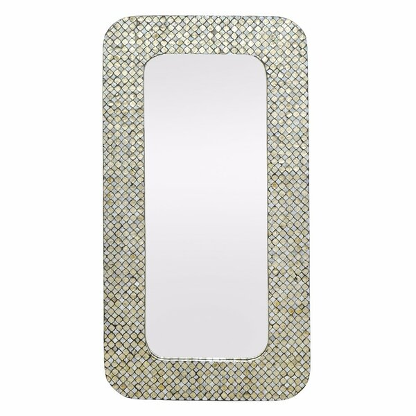 Seidenberg Wooden Wall Mirror by Rosecliff Heights
