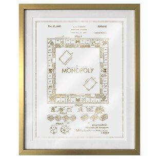 Monopoly wall art wayfair monopoly 1935 framed graphic art malvernweather Choice Image