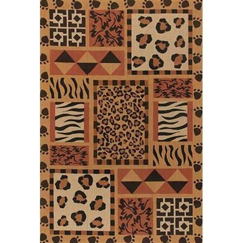 Doctor Phillips Brown Animal Print Area Rug by Bloomsbury Market