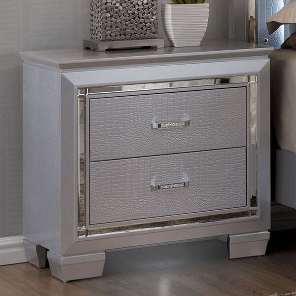 Continuum 2 Drawer Nightstand By Rosdorf Park Modern
