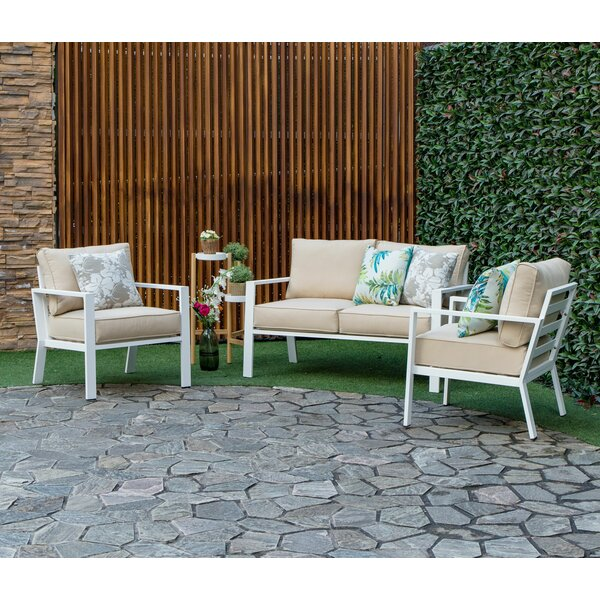 Mccarty Outdoor 3 Piece Sofa Seating Group with Cushions by Bayou Breeze