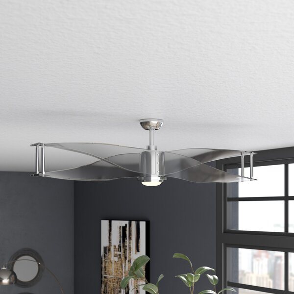 56 Penbrook 2 Blade Ceiling Fan with Remote by Wade Logan