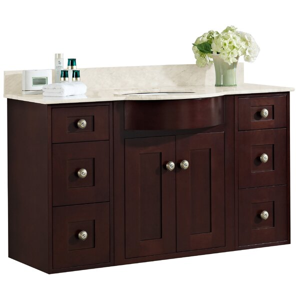 Kester Transitional 48 Rectangle Wood Single Bathroom Vanity Set by Darby Home Co