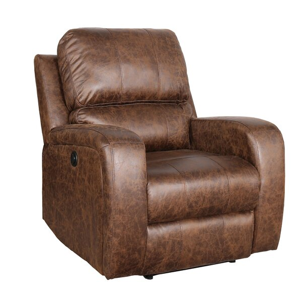 Arty Faux Leather Power Recliner W003380942