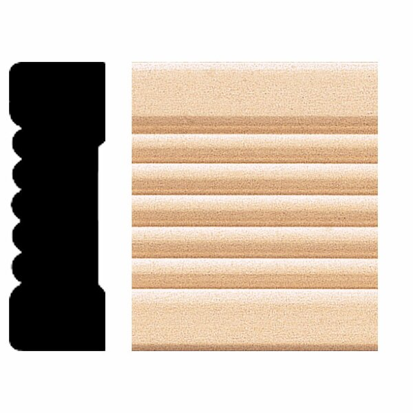 3/4 in. x 2-1/4 in. x 8 ft. Basswood Fluted Casing Moulding by Manor House