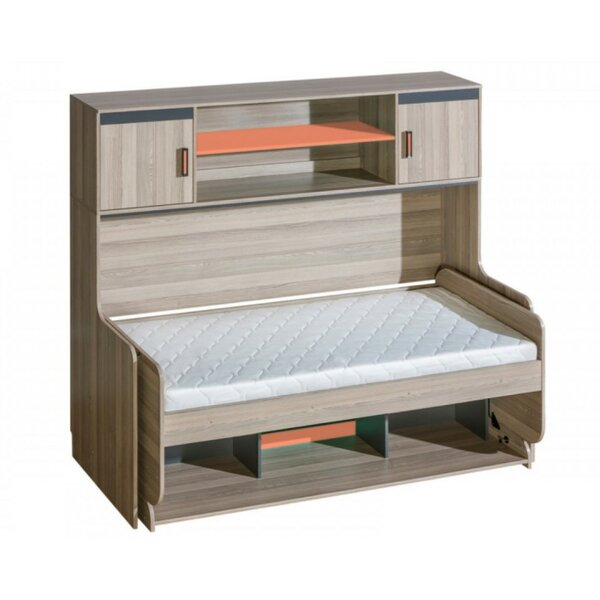 Hunziker Platform Bed with Mattress and Drawers by Orren Ellis