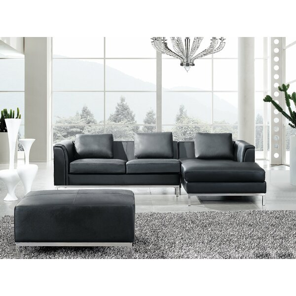 Blane Genuine Leather Modular Sectional