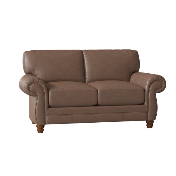 Spiers Leather Loveseat By Wayfair Custom Upholstery™