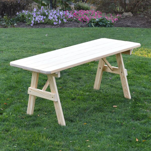 Stony Creek Wooden Picnic Bench by Loon Peak