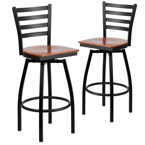 Chafin 31 Swivel Bar Stool (Set of 2) by Winston Porter
