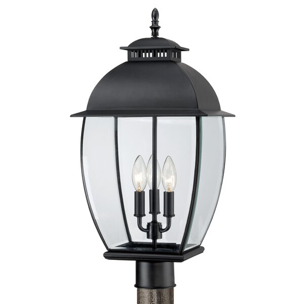 Millbrook Outdoor 3-Light Traditional Lantern Head by Three Posts