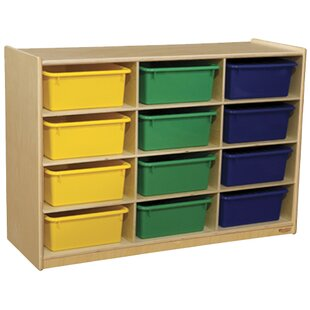 Online Reviews Portable 12 Compartment Cubby with Casters By Wood Designs
