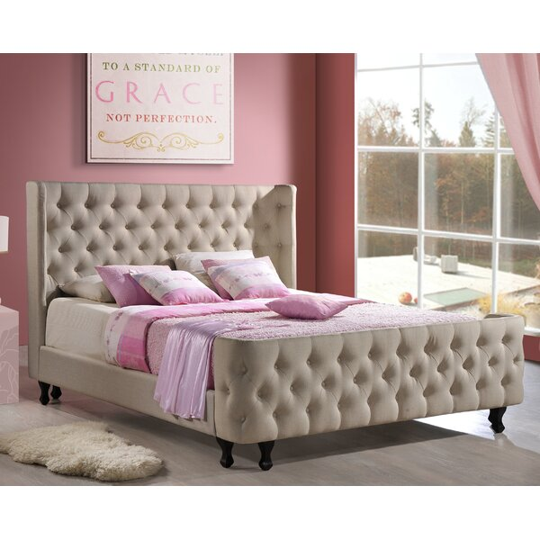 Waycross Upholstered Platform Bed by Three Posts