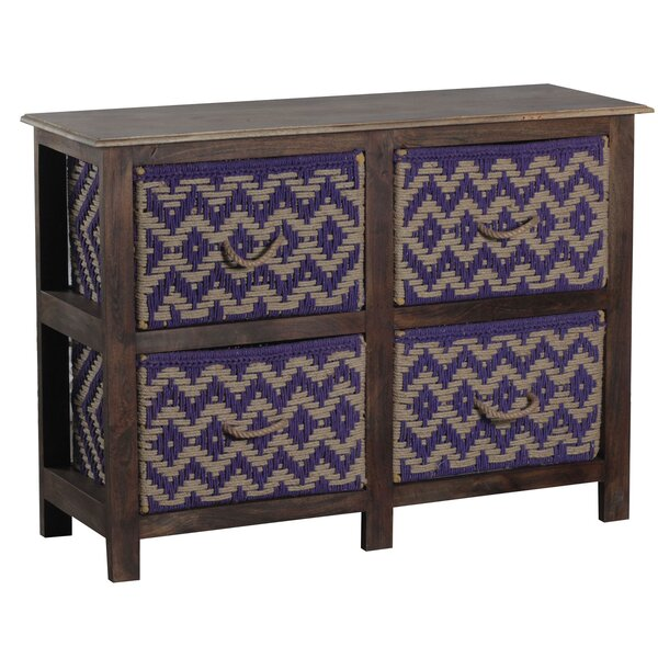 Gause Storage Console 4 Drawer Nightstand by Union Rustic