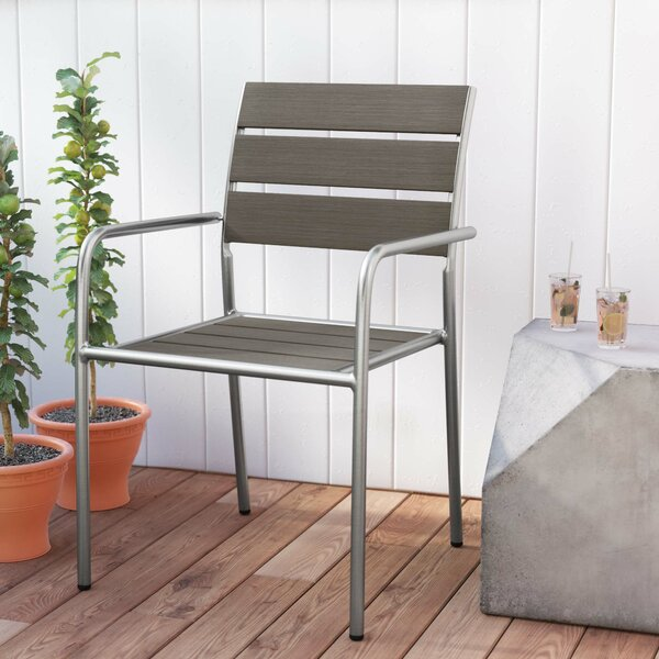Stacking Patio Dining Chair By Orren Ellis