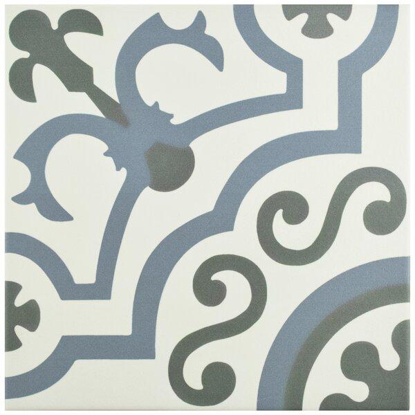 Hydraulic 9.75 x 9.75 Porcelain Field Tile in Ducados by EliteTile