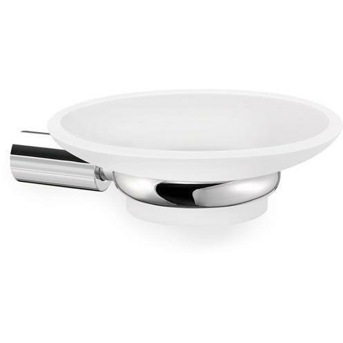 Sokol Wall Mounted Frosted Glass Soap Dish by Orren Ellis