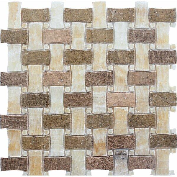 Salinas Basketweave Stone Mosaic Tile by Parvatile