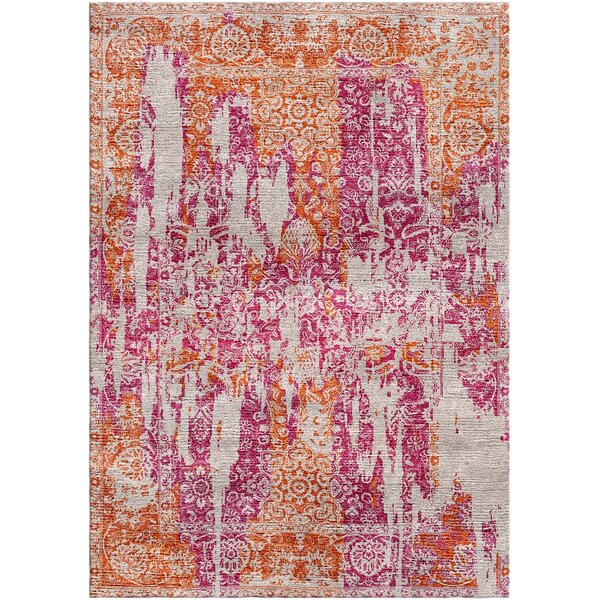 Aliza Handloom Pink/Rust Area Rug by Bungalow Rose
