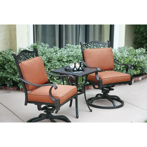 Fairmont 3 Piece Conversation Set with Cushions by Astoria Grand