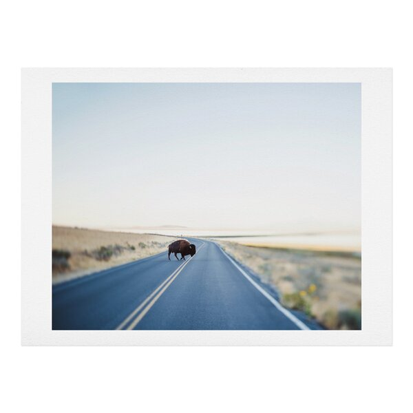 Buffalo Crossing Photographic Print by East Urban Home