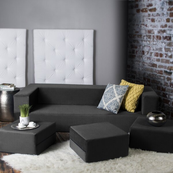 Eugene Modular Sleeper Sofa with Ottomans by Zipco