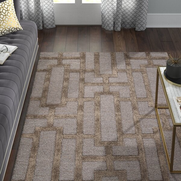 Blondell Blue / Brown Geometric Area Rug by Willa Arlo Interiors