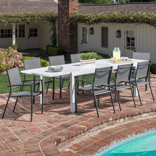 Frampton Cotterell 9 Piece Dining Set by Latitude Run