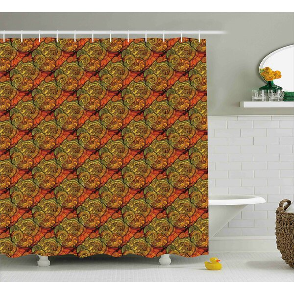 Bautista Abstract Indian Motif Shower Curtain by Bloomsbury Market