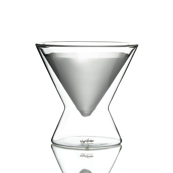La MarTini 8 oz. Frosted Double Wall Glass (Set of 2) by Highwave Inc.