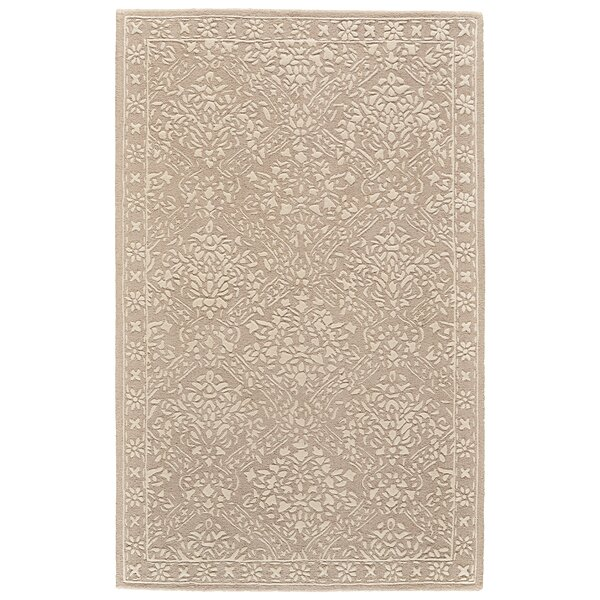 Griego Hand-Tufted Wool Beige/Ivory Area Rug by Bungalow Rose