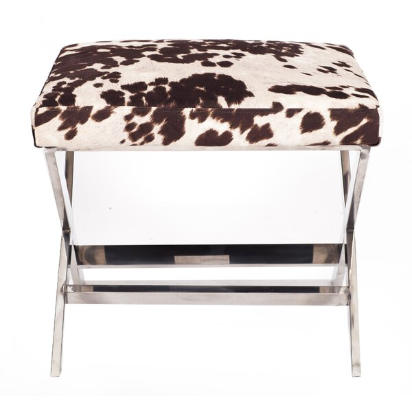 Diddle Cow Print Ottoman by Iconic Home