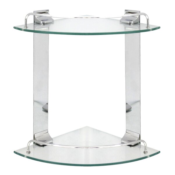Double Glass Corner 9.5 Wall Shelf by Modona
