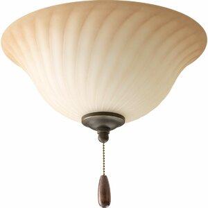 3-Light Forged Bronze Bowl Ceiling Fan Light Kit