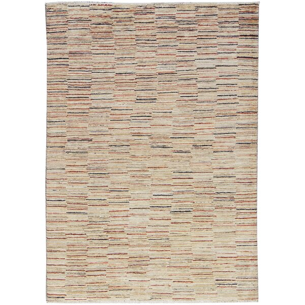 One-of-a-Kind Afghan Gabbeh Hand-Knotted Wool Dessert Area Rug by Bokara Rug Co., Inc.