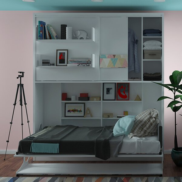 Gautreau Twin Storage Murphy Bed By Brayden Studio