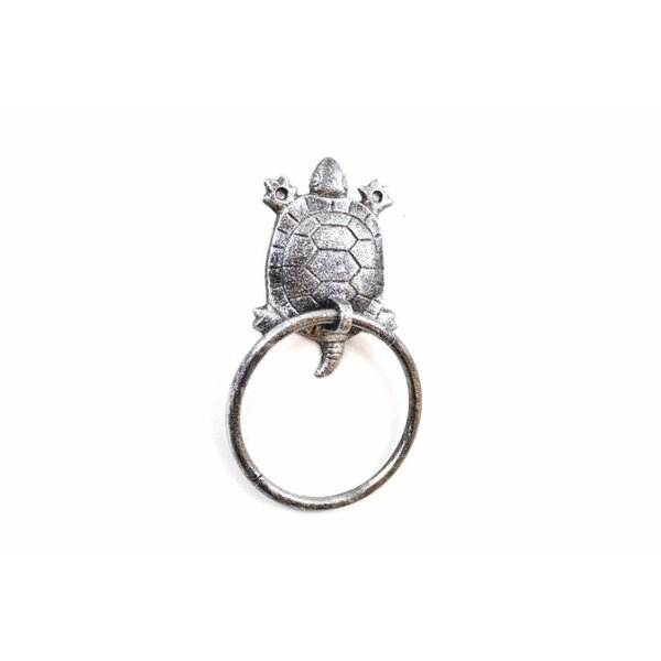 Cast Iron Turtle Towel Ring by Handcrafted Nautical Decor