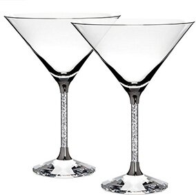 6 oz. Crystal Cocktail Glass (Set of 2) by Sparkles Home