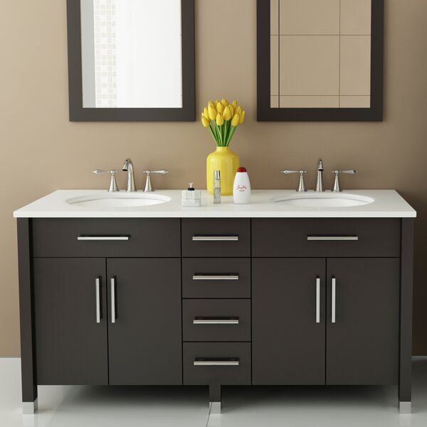 Rana 59 Double Bathroom Vanity Set by JWH Living