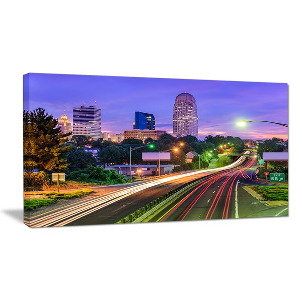 Winston Salem North Carolina Cityscape Photographic Print on Wrapped Canvas by Design Art