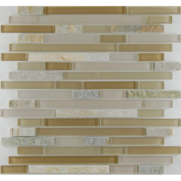 Bar 0.63 x 0.63 Natural Stone Mosaic Tile in Sandstone by Travis Tile Sales